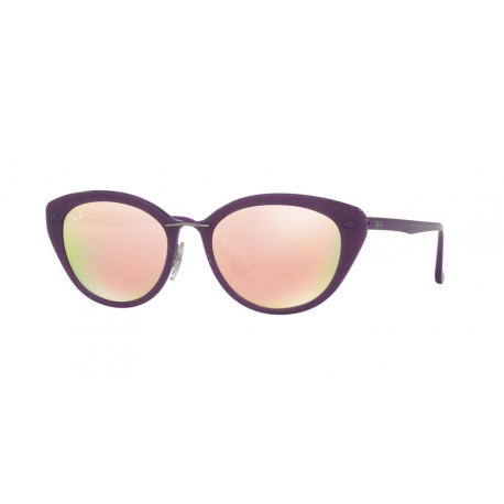 Ray-Ban RB4250 60342Y | Frame: shiny violet | Lenses: brown mirror pink