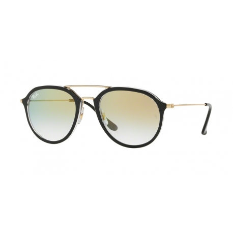 Ray-Ban RB4253 6052Y0 | Frame: top black on transparent | Lenses: transparent gradient gold