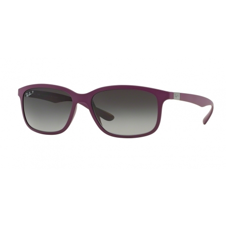 Ray-Ban RB4215 6128T3 | Frame: dark violet | Lenses: grey gradient polarized