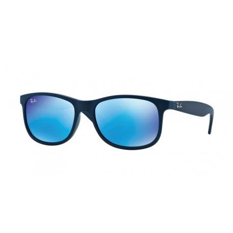 Ray-Ban RB4202 Andy 615355 | Frame: shiny blue on matte top | Lenses: green mirror blue