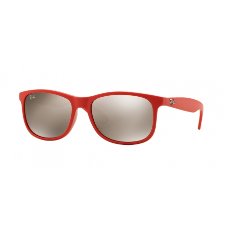 Ray-Ban RB4202 Andy 61555A | Frame: shiny coral on matte top | Lenses: light brown gold mirror