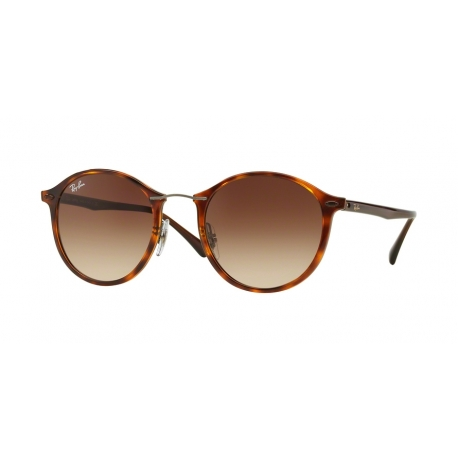 Ray-Ban RB4242 Round II Light Ray 620113 | Frame: light havana | Lenses: brown gradient