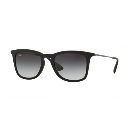 Ray-Ban RB4221 622/8G | Frame: black rubber | Lenses: light grey gradient dark grey