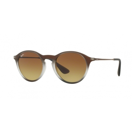 Ray-Ban RB4243 622413 | Frame: burnout brown on black | Lenses: light brown gradient brown