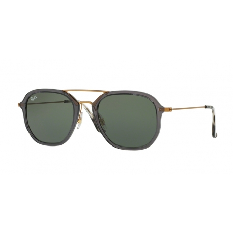 Ray-Ban RB4273 6237 | Frame: shiny transparent grey | Lenses: green