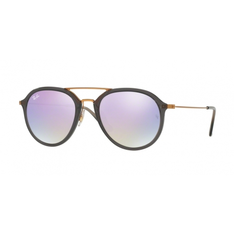 Ray-Ban RB4253 62377X | Frame: shiny grey | Lenses: lilac mirror gradient