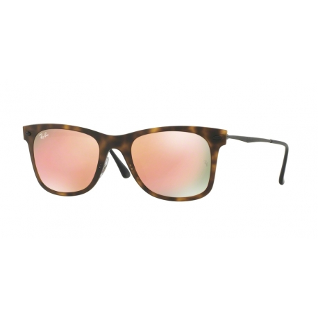 Ray-Ban RB4210 62442Y | Frame: matte havana | Lenses: copper mirror
