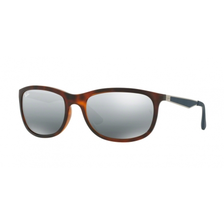Ray-Ban RB4267 625788 | Frame: shiny red havana | Lenses: grey gradient mirror