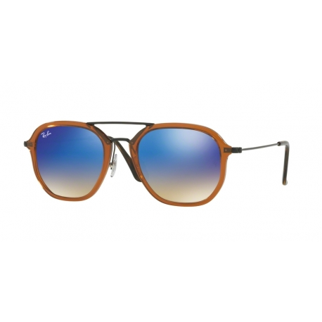 Ray-Ban RB4273 62588B | Frame: shiny transparent brown | Lenses: blue mirror gradient
