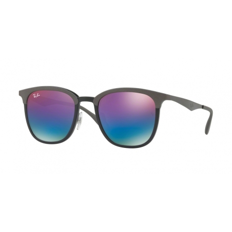 Ray-Ban RB4278 6284B1 | Frame: black, matte grey | Lenses: green mirror blue gradient violet