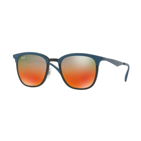 Ray-Ban RB4278 6286A8 | Frame: black, matte blue | Lenses: light brown mirror red gradient
