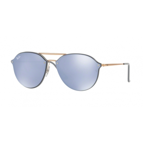 Ray-Ban RB4292N Blaze Doublebridge 63261U | Frame: light grey | Lenses: dark violet silver mirror