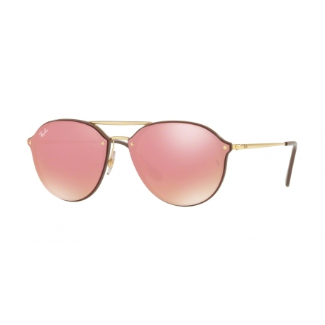Ray-Ban RB4292N Blaze Doublebridge 6327E4 | Frame: brown | Lenses: pink mirror pink