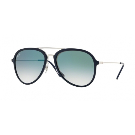 Ray-Ban RB4298 63343A | Frame: blue | Lenses: transparent gradient green