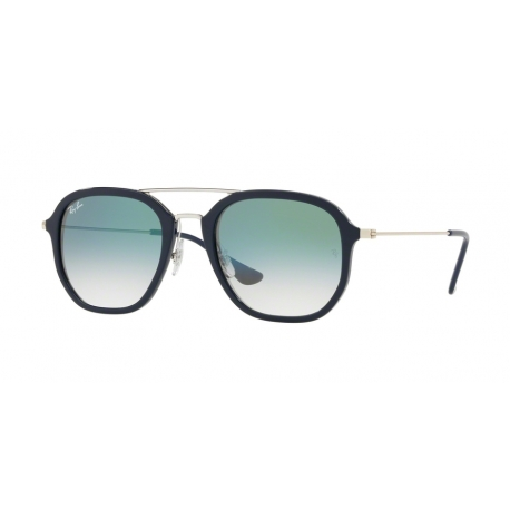 Ray-Ban RB4273 63343A | Frame: blue | Lenses: transparent gradient green