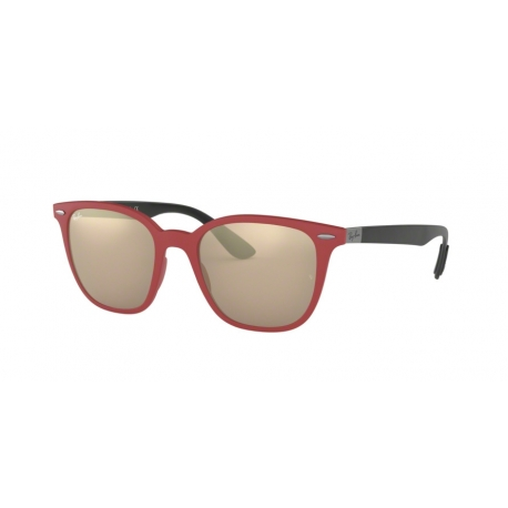 Ray-Ban RB4297 63455A | Frame: red sanding | Lenses: light brown mirror gold