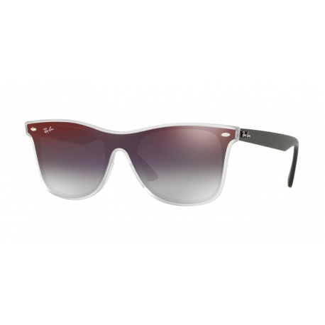 Ray-Ban RB4440N 6355U0 | Frame: matte transparent | Lenses: grey gradient mirror red