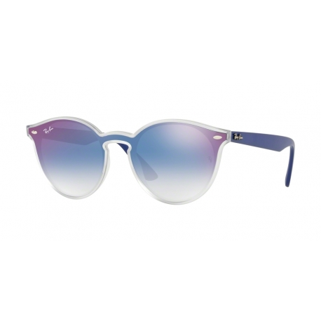 Ray-Ban RB4380N 6356X0 | Frame: matte transparent | Lenses: transparent gradient blue mirror red