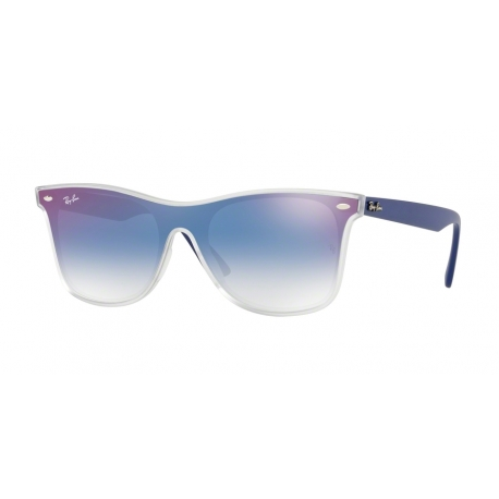 Ray-Ban RB4440N 6356X0 | Frame: matte transparent | Lenses: transparent gradient blue mirror red