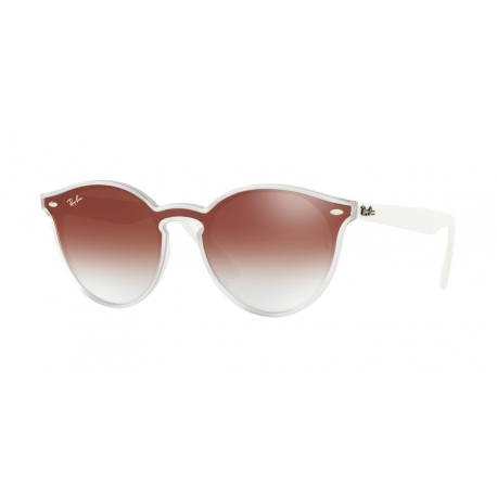 Ray-Ban RB4380N 6357V0 | Frame: matte transparent | Lenses: transparent gradient red mirror red