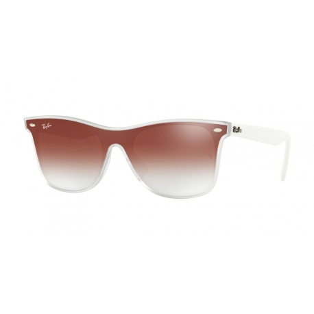 Ray-Ban RB4440N 6357V0 | Frame: matte transparent | Lenses: transparent gradient red mirror red