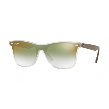 Ray-Ban RB4440N 6358W0 | Frame: matte transparent | Lenses: transparent gradient green mirror red