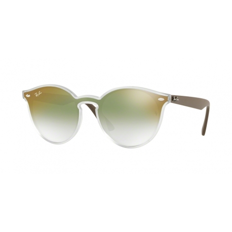 Ray-Ban RB4380N 6358W0 | Frame: matte transparent | Lenses: transparent gradient green mirror red