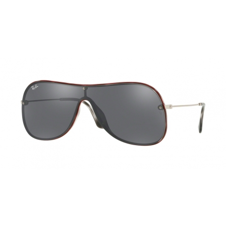 Ray-Ban RB4311N 63596G | Frame: havana grey on top red | Lenses: grey silver mirror