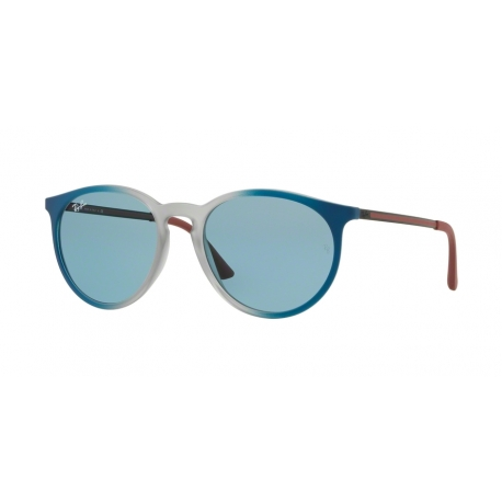 Ray-Ban RB4274 6365F7 | Frame: gradient blue, rubber light grey transparent | Lenses: light blue