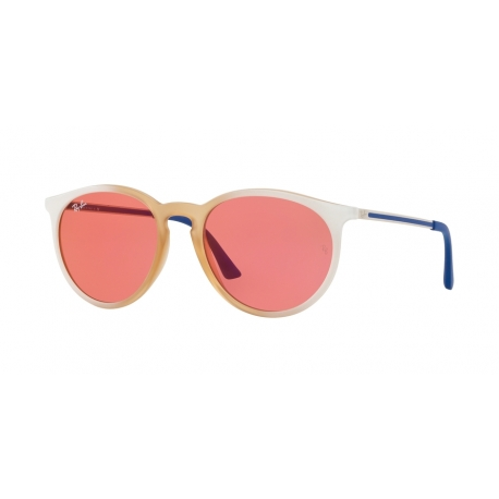 Ray-Ban RB4274 6367C8 | Frame: gradient white, rubber light pink transparent | Lenses: pink mirror red