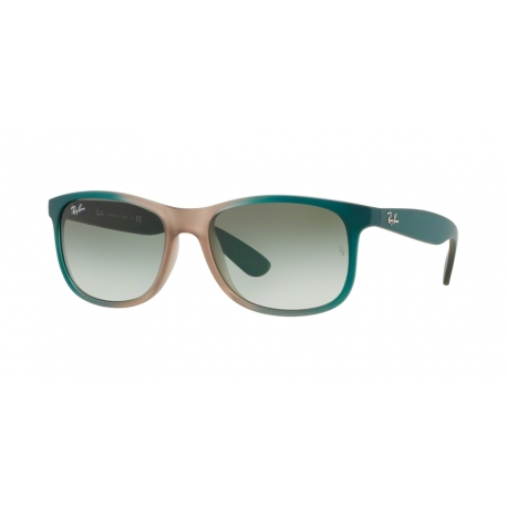 Ray-Ban RB4202 Andy 63688E | Frame: gradient green on light brown rubber | Lenses: green gradient