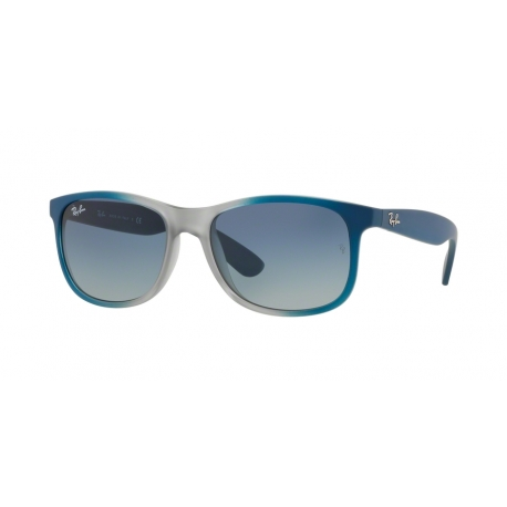 Ray-Ban RB4202 Andy 63704L | Frame: gradient blue, rubber light grey transparent | Lenses: grey gradient blue