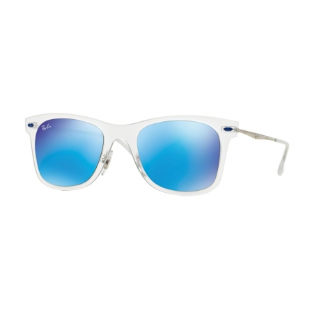 Ray-Ban RB4210 646/55 | Frame: matte transparent | Lenses: green mirror blue