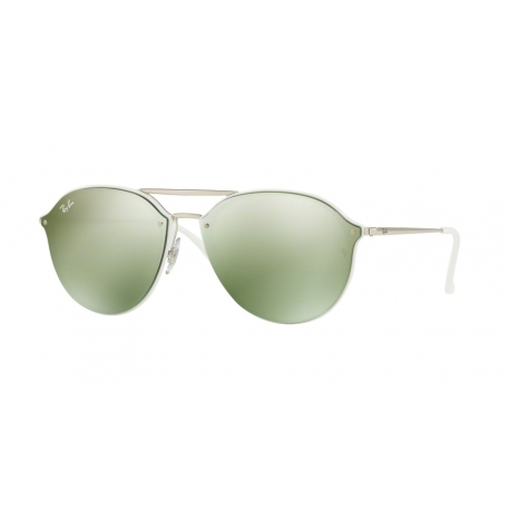 Ray-Ban RB4292N Blaze Doublebridge 671/30 | Frame: white | Lenses: dark green silver mirror