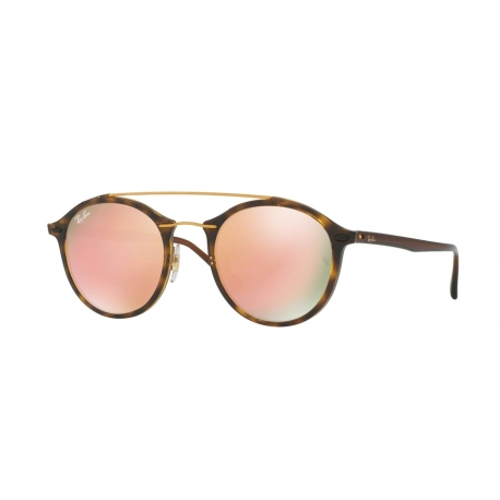 Ray-Ban RB4266 710/2Y | Frame: shiny havana | Lenses: light brown mirror pink