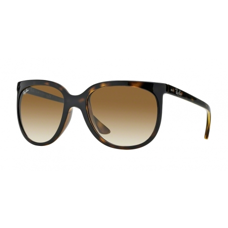 Ray-Ban RB4126 Cats 1000 710/51 | Frame: light havana | Lenses: crystal brown gradient