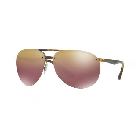 Ray-Ban RB4293CH 710/6B | Frame: havana | Lenses: purple mirror gold gradient polarized