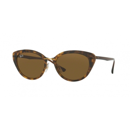 Ray-Ban RB4250 710/73 | Frame: shiny havana | Lenses: dark brown