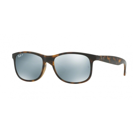 Ray-Ban RB4202 Andy 710/Y4 | Frame: shiny havana | Lenses: green silver mirror polarized