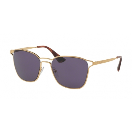 Prada PR 54TS 7OE6O2 | Frame: antique gold | Lenses: violet