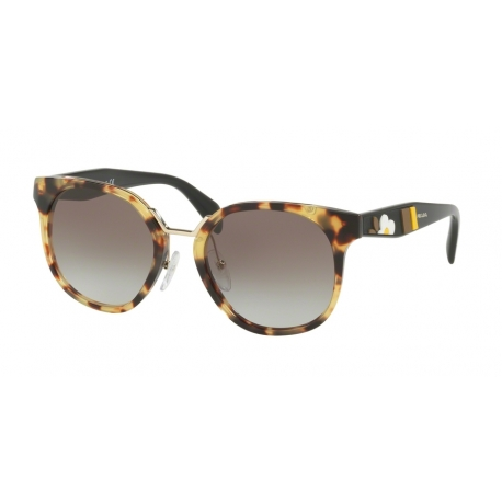 Prada PR 17TS 7S00A7 | Frame: medium havana | Lenses: grey gradient