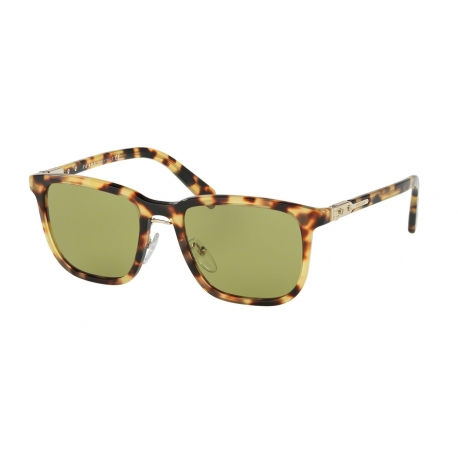 Prada PR 02TS 7S04K2 | Frame: sheaves grey brown | Lenses: green