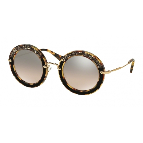 Miu Miu MU 08RS 7S04P0 | Frame: light havana | Lenses: brown gradient mirror