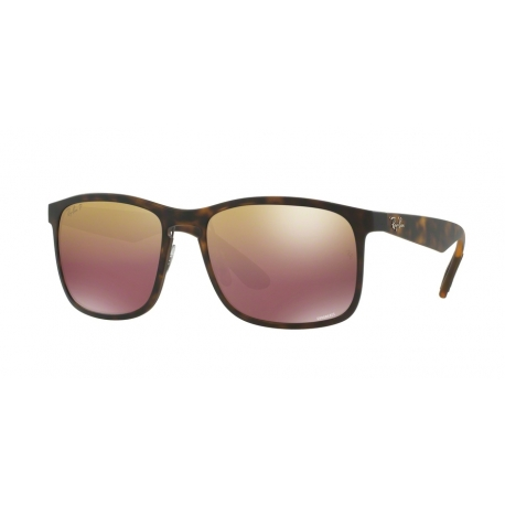 Ray-Ban RB4264 894/6B | Frame: matte havana | Lenses: brown polarized gold mirror