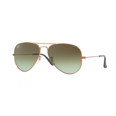Ray-Ban RB3025 Aviator Large Metal 9002A6 | Frame: shiny medium bronze | Lenses: green gradient brown