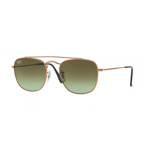Ray-Ban RB3557 9002A6 | Frame: medium bronze | Lenses: green gradient brown