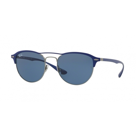 Ray-Ban RB3596 900580 | Frame: gunmetal on top matte blue | Lenses: dark blue