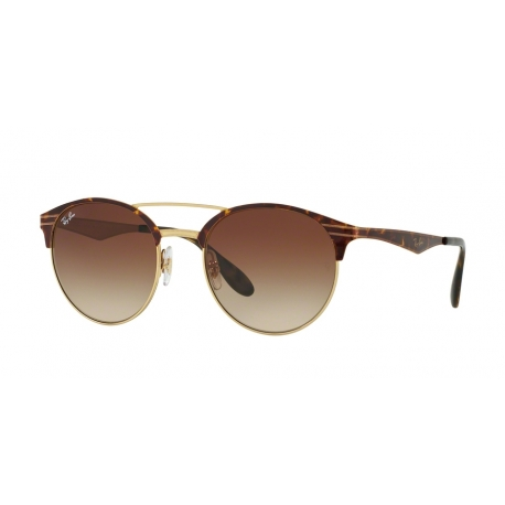 Ray-Ban RB3545 900813 | Frame: gold, top havana | Lenses: brown gradient