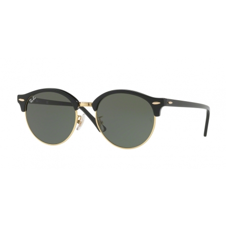 Ray-Ban RB4246F Clubround 901 | Frame: black | Lenses: green