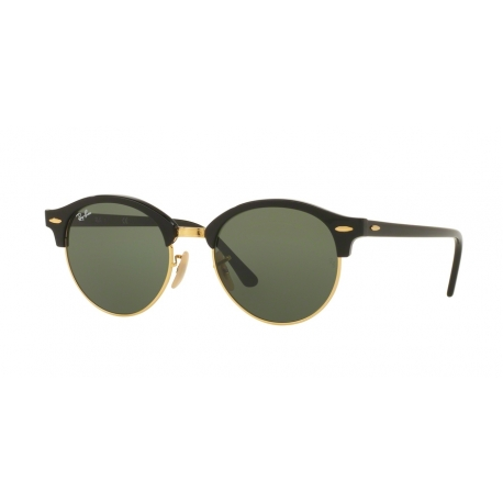 Ray-Ban RB4246 Clubround 901 | Frame: black | Lenses: green
